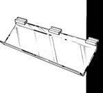 12 x 12 Acrylic Support Shelves - Slatwall