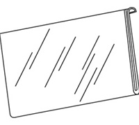 8.5 x 11 Horizontal Sign Holders for Slat/Gridwall
