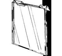 11 x 8.5 Vertical Sign Holders for Slat/Gridwall