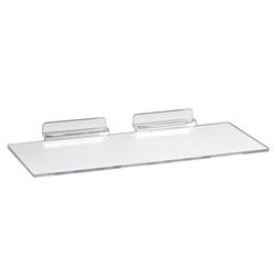 4 x 10 Clear Styrene Shelves - Slatwall