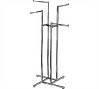 Sq Tube 4 Straight Arm 4-Way Clothing Racks
