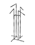 Sq Tube 4 Slant Blade 4-Way Clothing Racks