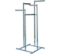 Space Saver Rect Tube Straight Arm 4-Way Clothing Racks