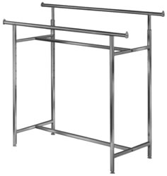 60 in.L 1.25 in. Round Tube Hangrail Clothing Racks