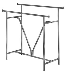 1.25 in. Round Tube V-Support Hangrail Clothing Racks
