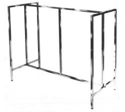 Slotted Sq Tube Gondola Hangrail Clothing Racks