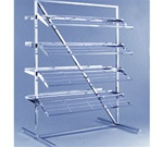 8 Shelf Chrome Shoe Display Racks