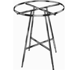 "36"" Round Folding Rack-WELDED w/Rectangular Tubing hangrail"