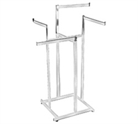 Hi-Capacity Rect Tube Straight Arm 4-Way Clothing Racks