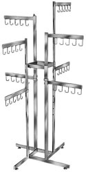 2-Tier 8 Straight Arm 4_Way Handbag Display Racks