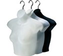 Ladies Upper Torso Half Black Body Forms - Pkg of 12