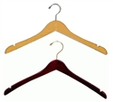 17 in. Wooden Wishbone Hangers - Chrome