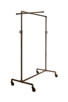 Adjustable 2-Way ballet Pipeline rack with one cross bar