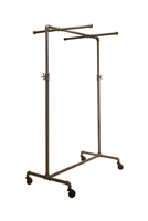 Adjustable 2-Way ballet Pipeline rack with two cross bars