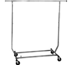 Heavy Duty Collapsible Hangrail Rolling Racks