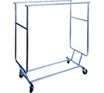 Collapsible Double Hangrail Rolling Racks