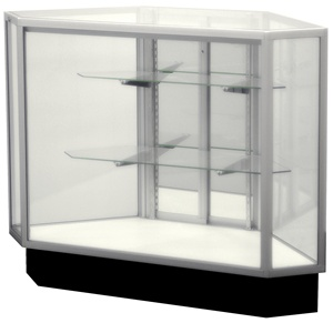 Outside Corner Extra Glass Display Case Showcases