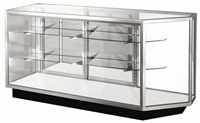 Corner Combo Extra Glass Display Case Showcases