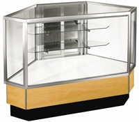 Outside Corner Full Glass Display Case Showcases