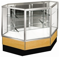 Inside Corner Full Glass Display Case Showcases