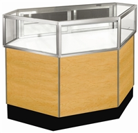 Inside Corner Jewelry Display Case Showcases