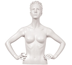 Female Mannequin Arms: Hands on Hips, White