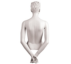 Female Mannequin Arms: Hands Behind Back, White