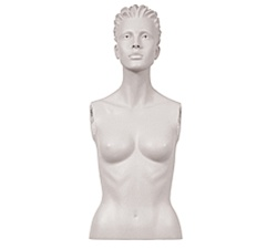 Female Mannequin Bust: Size 4, White