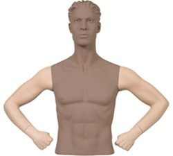 Male Mannequin Arms: Hands on Hips, Fleshtone