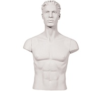 Male Shoulder Cap Manniquins, White