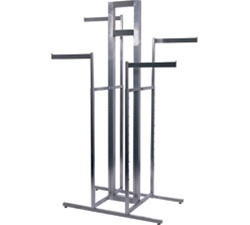 4-Way Rack & Sign Holder Clothing Displays
