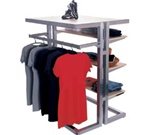 Island Multi-Rack Clothing Displays
