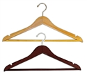 Hangers Wooden Wishbone with Chrome Hook - 17 in.
