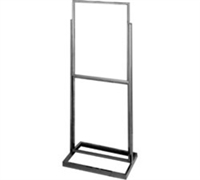 Double Bulletin Sign Holder w/ Rectangular Tubing Base
