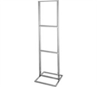 Triple Bulletin Sign Holder w/ Rectangular Tubing Base