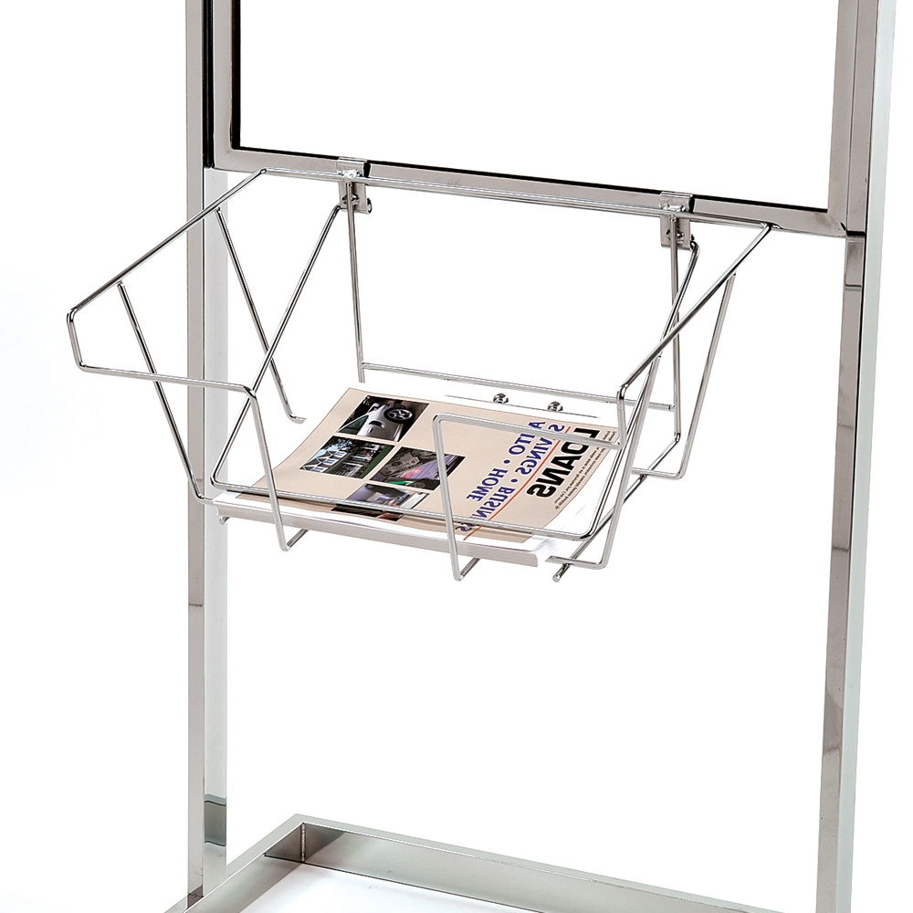 Wire Literature Basket for Bulletin Sign Holder, Stand-Up Metal Sign ...