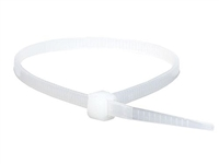 "7"" Cable Tie White - 100 Pack"