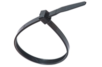 "7"" Cable Tie Black UV Resistant - 100 Pack"