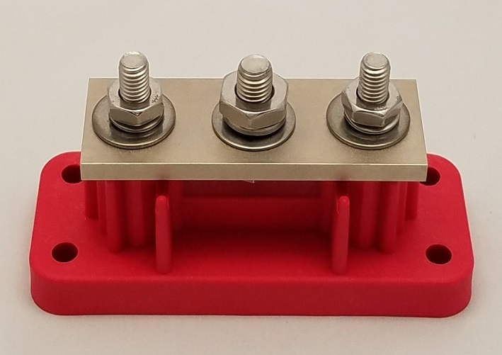3phdbbr Heavy Duty 3 Point 700 Amp Bus Bar Red