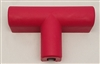 Heavy duty 3 point buss bar cover. Red.