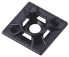 "Cable Tie Mounting Pad 1"" x 1"" (Black)"