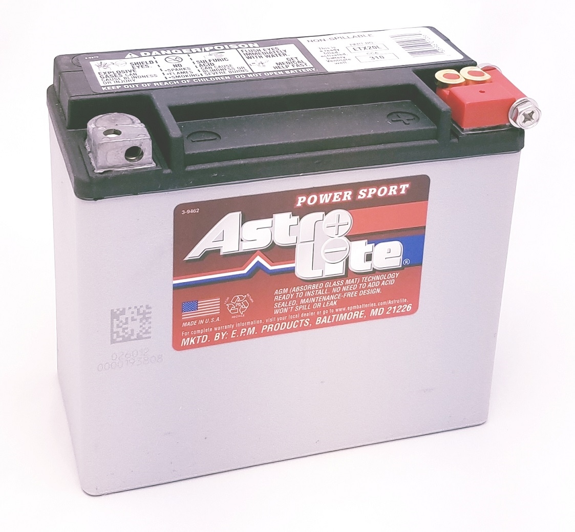 Astrolite Etx20l Maintenance Free Motorcycle Battery Larger Photo