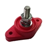 "Single Post Junction Block Large Base 3/8"" - Red"