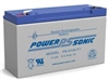 Power-Sonic 6V 12.0Ah SLA Battery