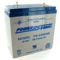 Power-Sonic 6V 36.0Ah SLA Battery