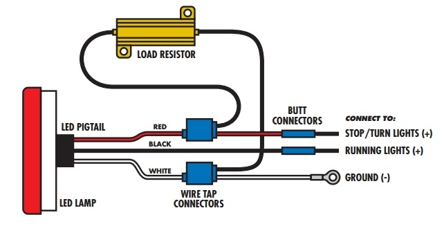 LED LOAD RESIST 3?1473244336 led tail light wiring diagram wiring multiple led light strips  at readyjetset.co