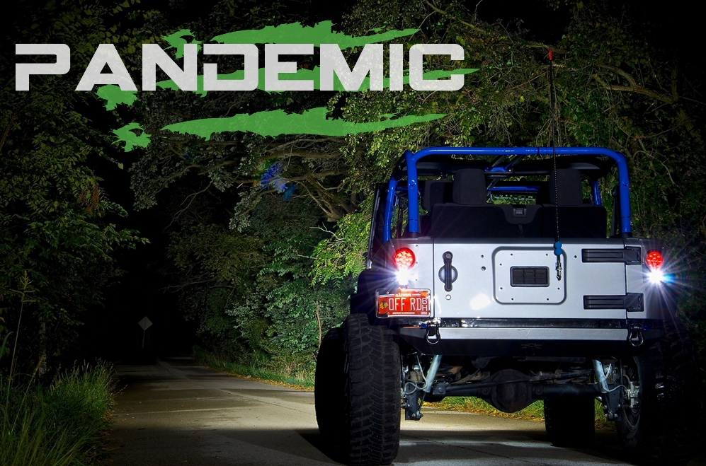 Pandemic Jeep Jk Led Tail Light Conversion Kit Flush Mount 4 Round W Clear Lense Red Diodes