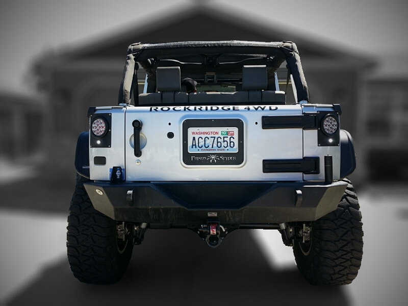 Jeep Wrangler Led Tail Lights >> Pandemic Led Tail Light Conversion Kit Flush Mount 4 Round W Red