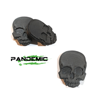 Pandemic Jeep JK Tailgate Plugs -SKULL - Pair