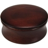 Dark Wood Shave Bowl with Lid